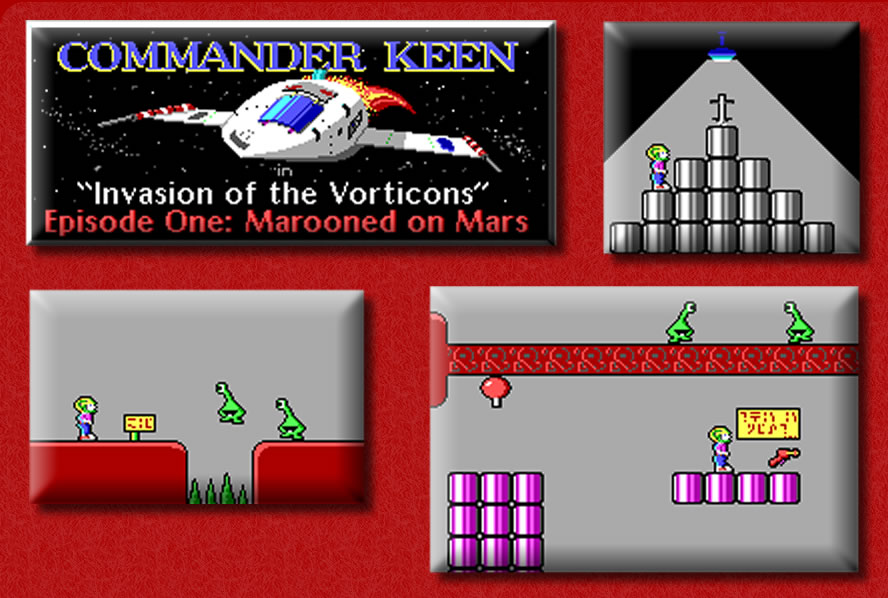 commander keen 1 marooned on mars